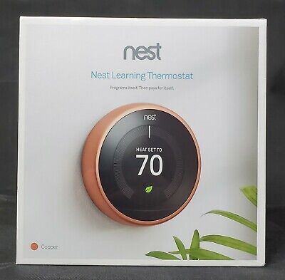 Brand New Nest Learning Thermostat, 3rd Generation, Copper, Factory Sealed Box
