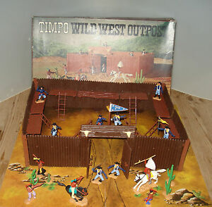 Timpo Toys Wild West OUTPOST Außenposten Fort Indianer Soldaten Nordstaatler OVP