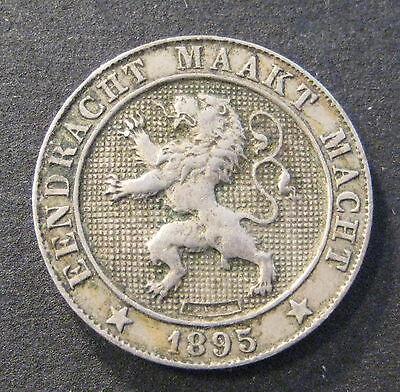 1895  Belgium 5 Centimes - Der Belgen - KM# 40 - * No Reserve * - (L147)