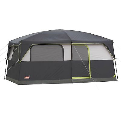 Coleman Prairie Breeze 9 Person 14 x 10' WeatherTec Camping Tent, Fan, And Light