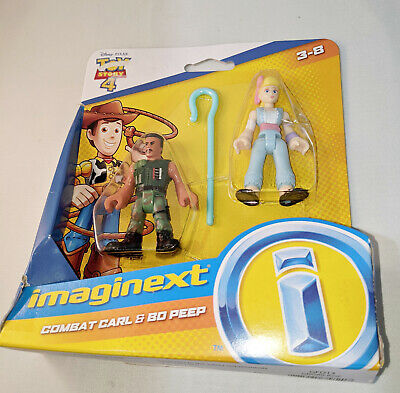 Imaginext Disney Pixar Toy Story 4 Movie Combat Carl Jr. & Bo Peep Figure Set