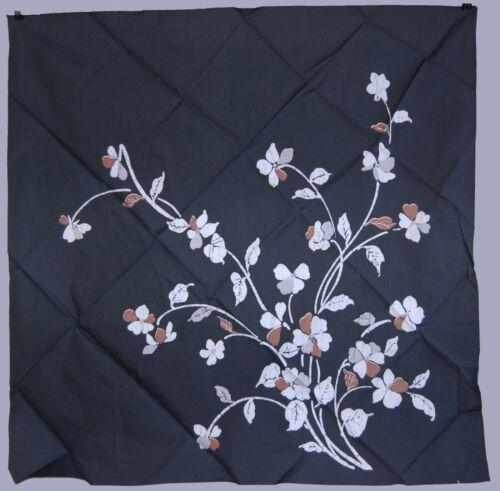 Vintage furoshiki wrapping cloth, summer flowers, cotton, katazome, Japan