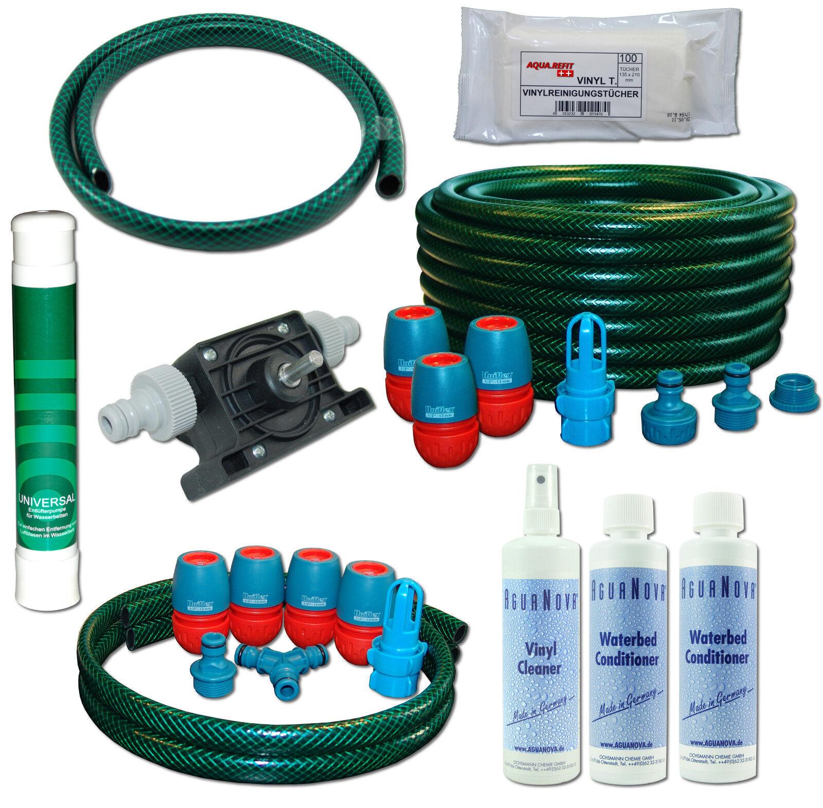 Pumpe Wasserbetten Service Set Befüllset Entleerungsset Dual Mono Pflegeprodukte