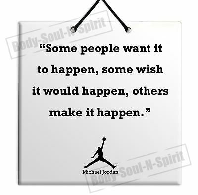 BUY Michael Jordan Quote Ceramic Wall Hanging Plaque TILE Home Decor Gift Sign