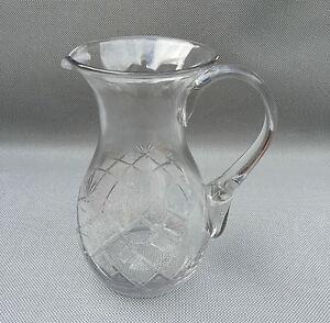 ancien pot eau broc en verre grav art de la table vintage french antique ebay. Black Bedroom Furniture Sets. Home Design Ideas