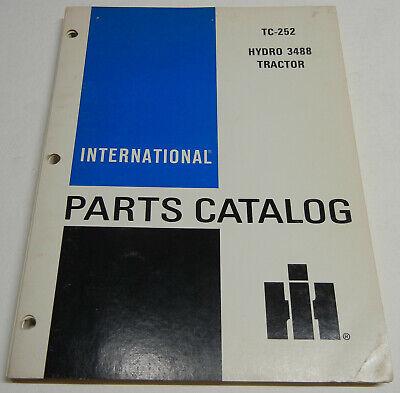Farmall International Hydro 3488 Tc-252 Oem Factory Parts Catalog