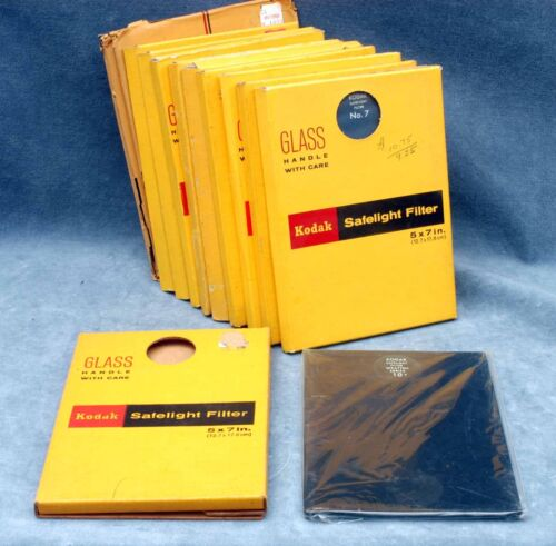 KODAK NOS 5x7 SAFELIGHT FILTER IN BOX - YOUR CHOICE - $21.99 EACH SHIPPED USA
