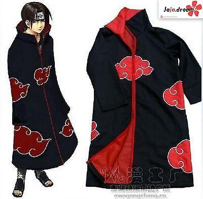 Cosplay Naruto AKATSUKI Pein Itachi tobi Anime Kostüm Mantel S-XL