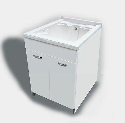 Lavatoio in legno vasca e tavoletta 60 cm MabelOnline