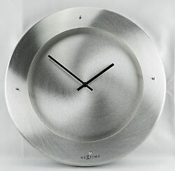 New! Rare, Modern Silver Open Dial Quartz Wall Clock By Nextime-2174AL