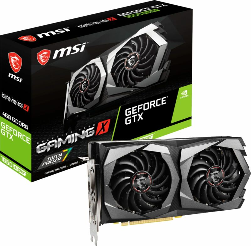 MSI - NVIDIA GeForce GTX 1650 SUPER 4GB GDDR6 PCI Express 3.0 Graphics Card -...