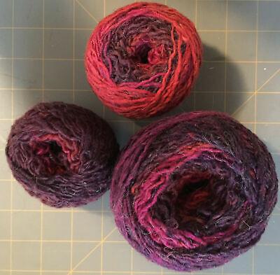 Recycled Acrylic - Recycled YARN Rust & Purple Colorway 87 Acrylic 13 Wool 487yds 4.6 oz 3 balls