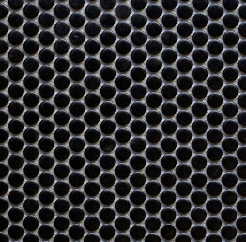 Penny Round Tiles In Black Matt Glazed S Per M2 Mosaic Tile