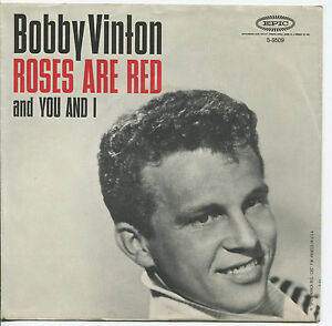BOBBY-VINTON-Roses-Are-Red-You-And-I-45-RPM-PICTURE-SLEEVE-POP