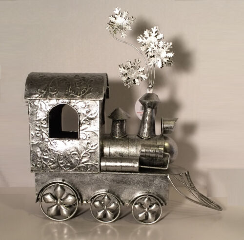 "Elegant Exhart 18"" Embossed Metal Holiday Christmas Train - Home Decor - New"