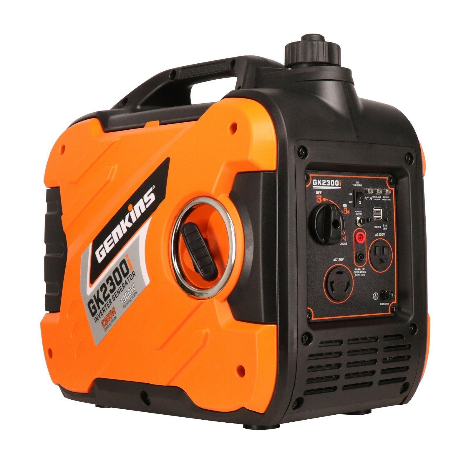 Genkins 2300 Watt Portable Inverter Generator Gas ...