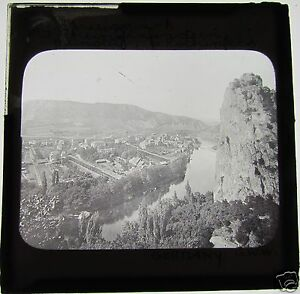 Glass-Magic-Lantern-Slide-BAVARIAN-TOWN-C1900-GERMANY-SEE-PHOTO-2-FOR-NAME