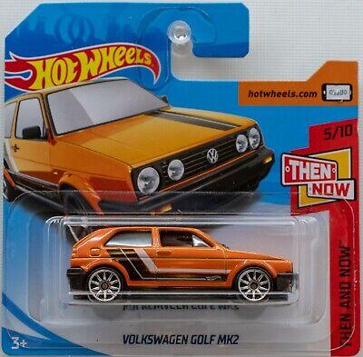Hot Wheels Volkswagen Golf Mk2 Orange Mk 2 FYX92 Then and Now 2018