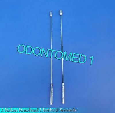 2 Pcs Bakes Rosebud Urethral Sounds 8mm12mm