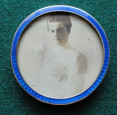 Grand Duchess Maria Pavlovna of Russia Photo by Vesenberg in Silver Enamel Frame