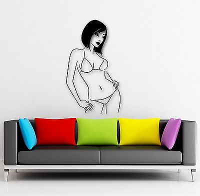 Wall Stickers Vinyl Decal Hot Sexy Girls with No Clothes Lingerie (ig431) - Hot Girl With Clothes