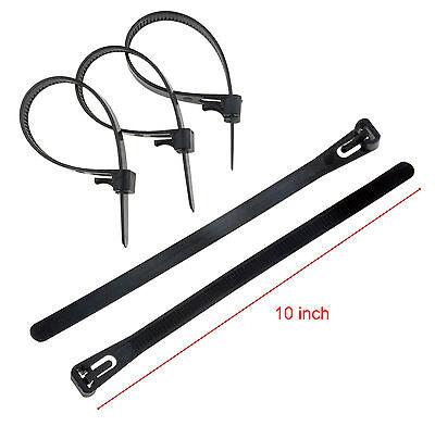 10-200pcs 10 Releasable Reusable Plastic Zip Cable Tie Wraps Ratchet Ties Wire