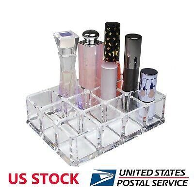 Rectangular Clear Acrylic Cosmetic Organizer Makeup Lipstick