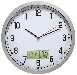 Orologio da parete con termometro e igrometro for Orologio digitale da parete ikea