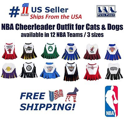 Pets First NBA Licensed Cheerleader Outfit for Dogs and Cats 12 Teams / 3 Sizes.](Dog Cheerleader Outfit)