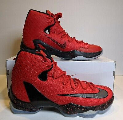 New Nike LeBron XIII 13 Elite University Red & Black & Crimson Sz 12 83192 606 Crimson University