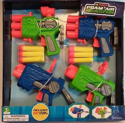 Set of 4 pack foam air blaster toy 3+ gun - Air Blaster Toy