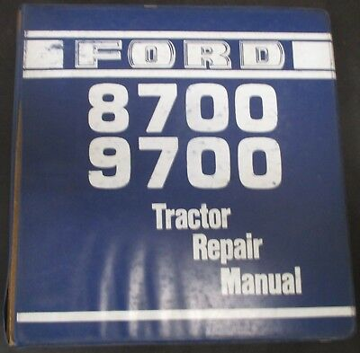 Ford 8700 And 9700 Tractors Service Repair Manual