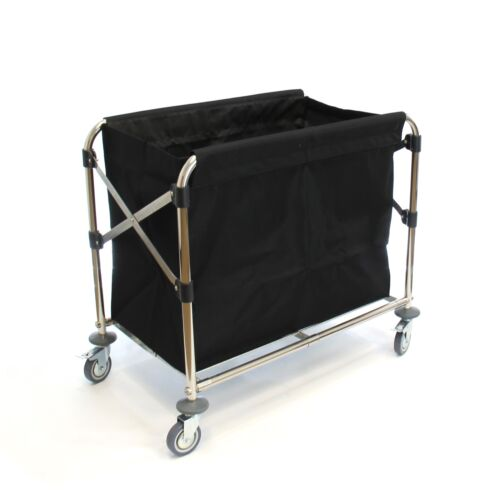 Commercial Laundry Cart with Steel Frame - Foldable