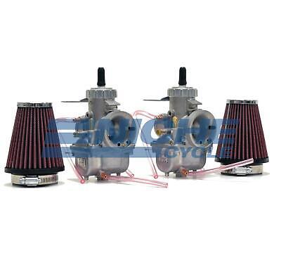 Honda CB350 CL350 CB360 Mikuni VM32 Complete Race Carburetor Kit w/ Cables