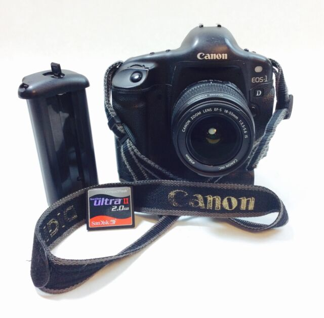 Canon EOS - 1 D 4.48 MP Digital SLR Camera with EF-S 18-55mm Lens - Black