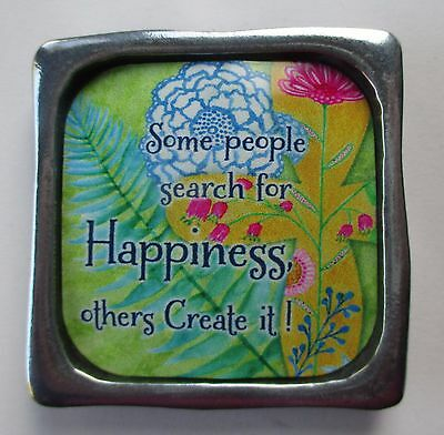 F Some People Search For Happiness Create It Multiple Blessings Metal Magnet
