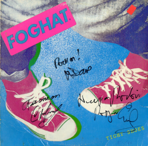 Foghat - Tight Shoes - SIGNED AUTOGRAPHED VINYL RECORD Dave, Craig and Roger