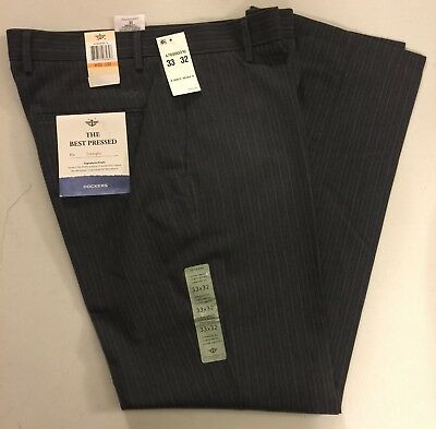 Dockers The Best Pressed Signature Khaki Dress Pants Men's 33/32 Gray (Best Dress Pants For Men)