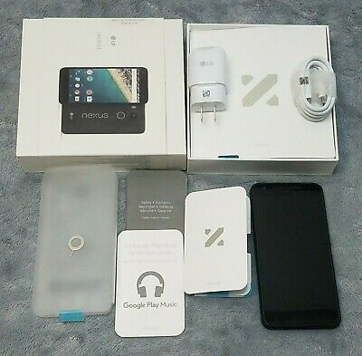 LG Nexus 5X H790 32GB Carbon Black Unlocked Smartphone Google Fi T-Mobile 8 Oreo