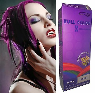 teinture coloration cheveux permanente goth emo elfe cosplay punk violet pourpre - Coloration Violet Permanente