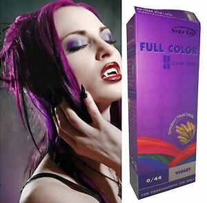 teinture coloration cheveux permanente goth emo elfe cosplay - Coloration Violet Cheveux