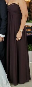David bridal evening dress- brown color