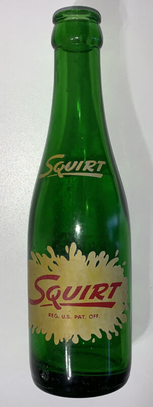 ~1950-1960 Older ACL Label Squirt Soda Bottle L-G Liberty Glass Company