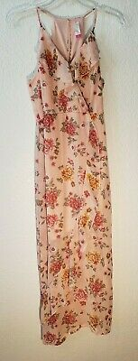VERY CUTE SUMMER DRESS MAXI SEMI SHEER W LINER FLORAL / BLUSH SIZE 7/9 WNS