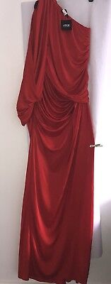 Join Clothes One Shoulder Red Grecian Dress One Size Fits Uk - Grecian Attire