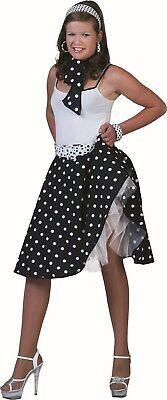 Funny Twin Costumes Halloween (Funny Fashion Halloween-Party 50's Sock Hop Skirt-Black/White w/ Matching)