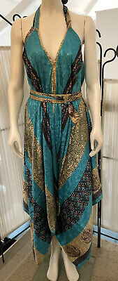Indian Vintage Silk Bohemian Handmade Hippie Ethnic Gypsy Jump suit