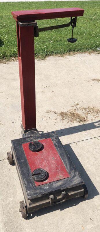 Antique Farm Scale - Weights Wheels Vintage