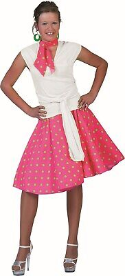 Funny Twin Costumes Halloween (Funny Fashion Halloween-Party 50's Sock Hop Skirt-Pink/Green with Matching)