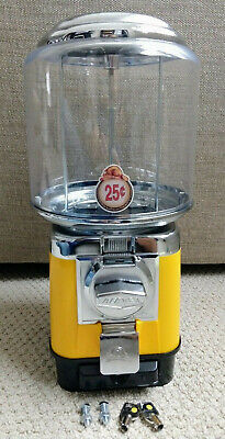 1 Beaver Yellow Rb16 Gumball Candy Toy Nut Vending Machine Cash Drawer 2 Yr-old